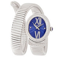 Judith Ripka Stainless Steel & Diamonique 1.00 cttw. Tubogas Watch - J351747
