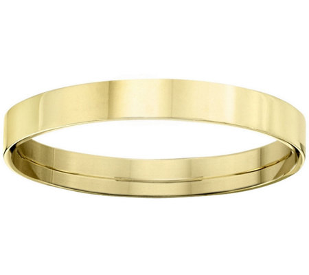 Women's 18K Yellow Gold 3mm Flat Comfort Fit Wedding Band