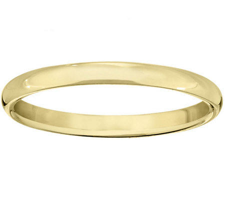 Men's 18K Yellow Gold 2mm Half Round Wedding Band