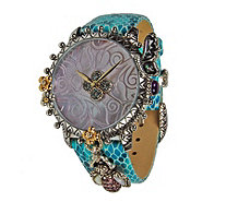 Barbara Bixby Stainless Steel  & Leather GardenWatch - J376547