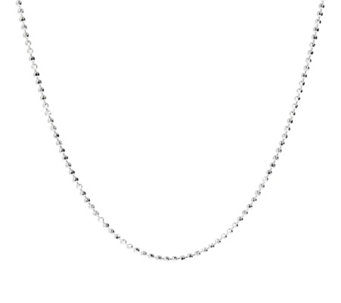 "UltraFine Silver 24"" Diamond Cut Bead Chain, 7.4g - J110448"