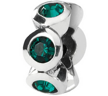 Prerogatives Sterling Swarovski Crystal Birthstone Bead