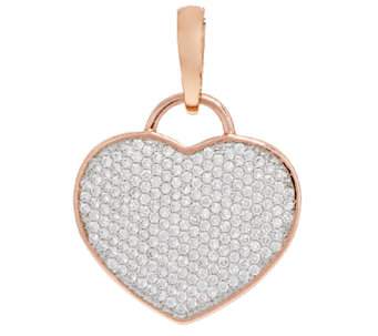 Bronze Pave' Crystal Heart Enhancer by Bronzo Italia - J290948