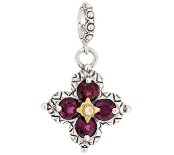 Barbara Bixby Sterling & 18K Gemstone Flower Charm - J296848
