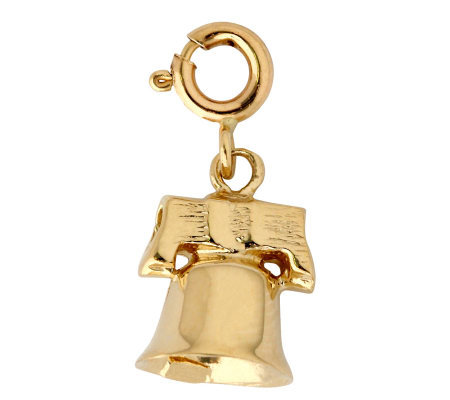 14K Yellow Gold Bell Charm