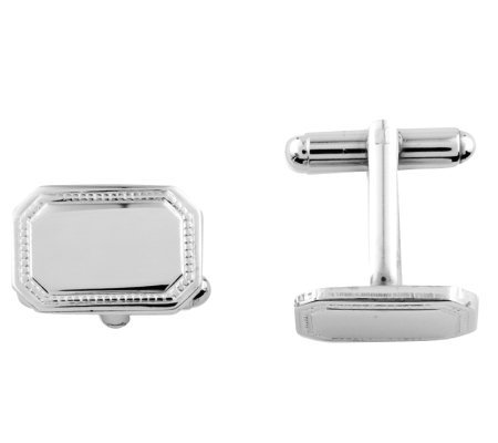 Sterling Polished Rectangle Cuff Links