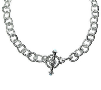 "Judith Ripka 5th Avenue 18"" Topaz Chain Necklace, Sterling - J312348"