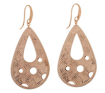 Bronzo Italia Diamond-Cut Pear-Shaped Dangle Earrings - J312948