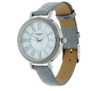 Liz Claiborne New York Perforated Strap Watch - J321348