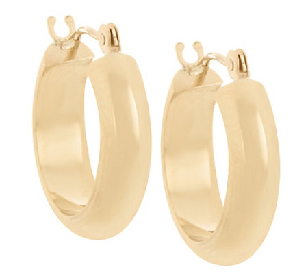 """As Is"" 18K Gold Polished Round Huggie Hoop Earrings"
