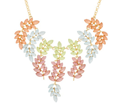 Susan Graver Pastel Vine Statement Necklace
