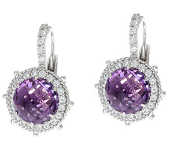 Judith Ripka Sterling Silver 4.60 cttw. Gemstone Lever Back Earrings - J329948