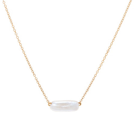 "14K Gold 18"" Necklace with American Cultured Pearl"
