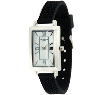 """As Is"" Liz Claiborne New York Cable Knit Texture Silicone Watch - J330648"