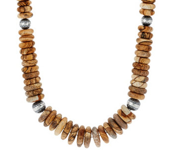 Sterling Silver Gemstone Bead Statement Necklace by American West - J330748
