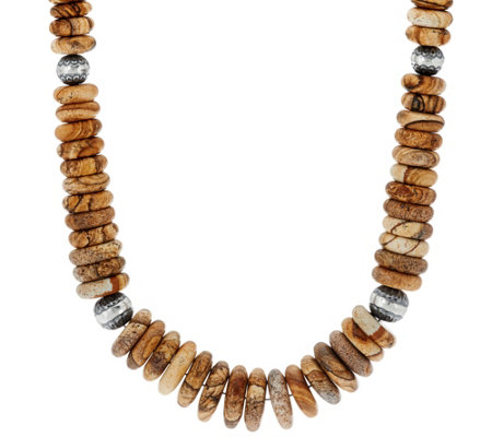 Sterling Silver Gemstone Bead Statement Necklace by American West