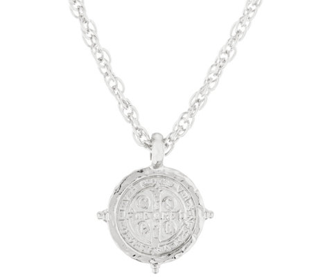 My Saint My Hero Benedictine Medallion Pendant