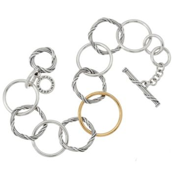Peter Thomas Roth Sterling & 18K Signature Mixed Link Bracelet