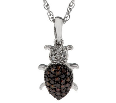 """As Is"" Diamond Critter Pendant Sterling, 1/7 cttw by Affinity"