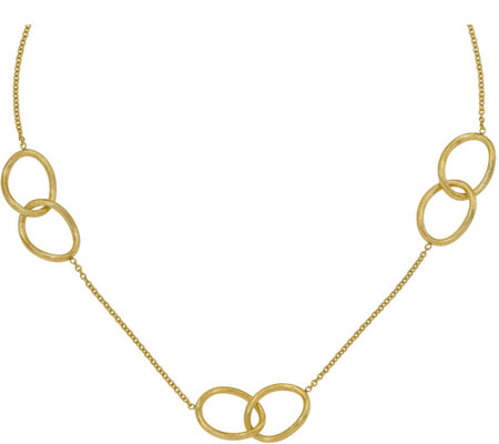 14K Double-Link Station Necklace, 8.3g