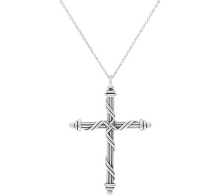Peter Thomas Roth Sterling Ribbon Cross PendantNecklace