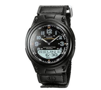 Casio Men's World Time Ana-Digi Black Watch - J106949