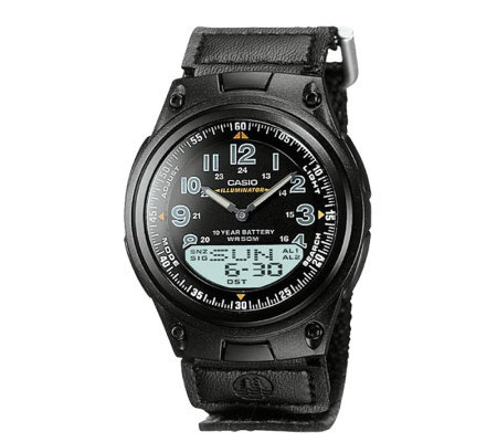 Casio Men's World Time Ana-Digi Black Watch