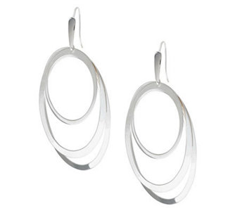 """As Is"" UltraFine Silver Large Polished Oval Earrings - J155149"