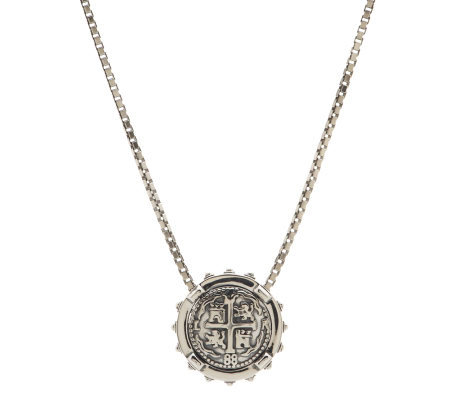 Barry Cord Sterling Spanish Doubloon Necklace