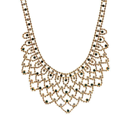Jacqueline Kennedy Simulated Gemstone Bib Necklace