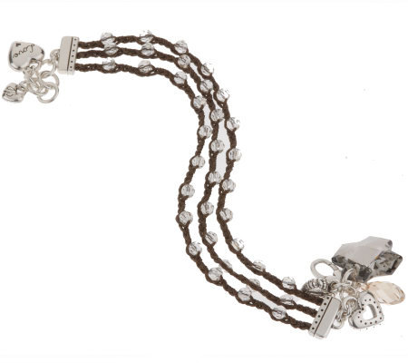 Brighton Karma Collection Smoky Crystal Bracelet