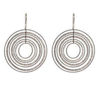 """As Is"" Vicenza Silver Sterling Textured Dangle Earrings - J283649"