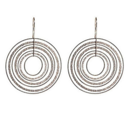 """As Is"" Vicenza Silver Sterling Textured Dangle Earrings"