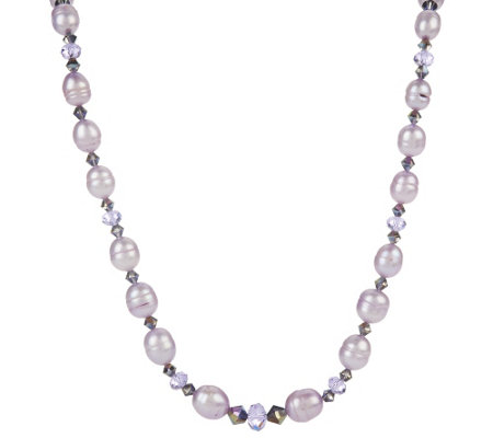"Honora Cultured Pearl & Crystal Graduated 18"" Necklace"