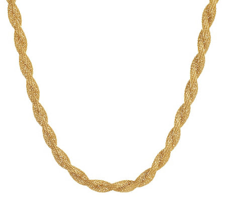Stainless Steel Twisted Mesh Rope Design Necklace