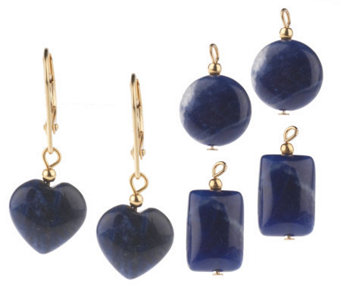 Lee Sands Interchangeable Sodalite Earrings - J302749