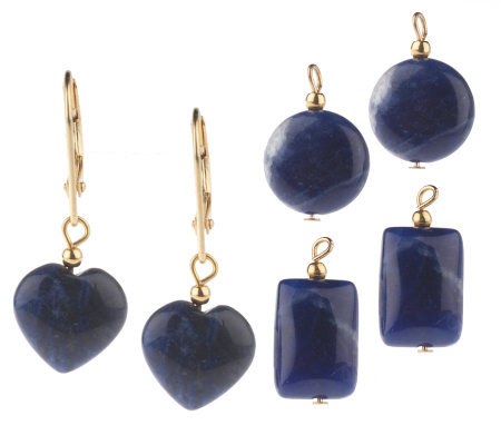 Lee Sands Interchangeable Sodalite Earrings