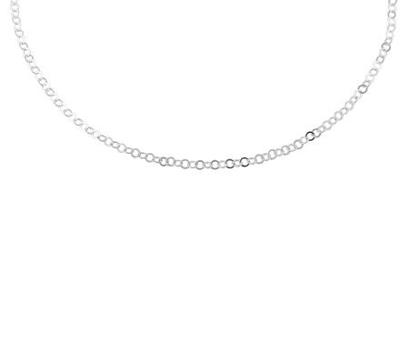 "UltraFine Silver 18"" Circular Link Chain Necklace, 2.8g"
