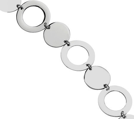 "Stainless Steel 7-1/2"" Polished Circle Bracelet"