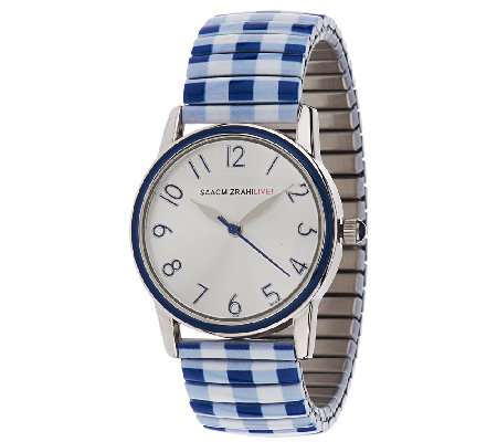 Isaac Mizrahi Live! Gingham Print Expansion Watch