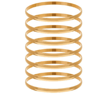 Bronze Set of 7 Polished Round Bangles by Bronzo Italia - J323949