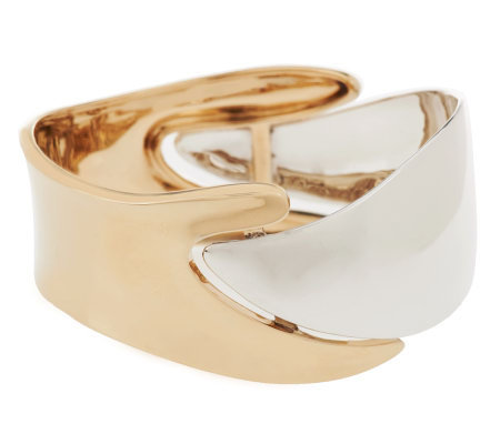 """As Is"" RLM Studio Sterling / Brass Neo Oroboros High Polished Bangle"