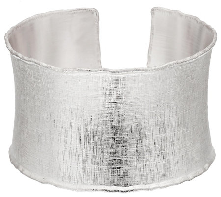 """As Is"" Artisan Crafted Sterling Satin Finish Large Bold Cuff,37.2g"
