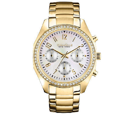 Caravelle New York Women's Goldtone Bracelet Watch