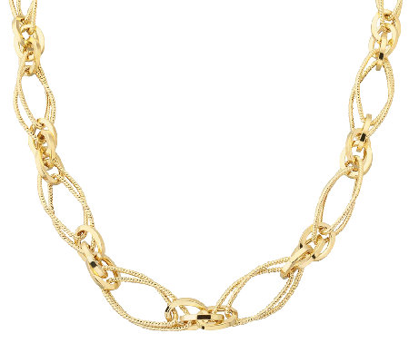 "EternaGold 20"" Textured Multi-link Necklace 14KGold, 10.1g"