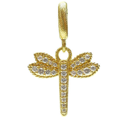 Judith Ripka Sterling & 14K Clad Dragonfly Charm