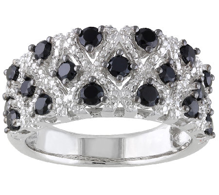 1.45cttw Black Spinel & Sterling Silver Ring