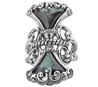 Carolyn Pollack Trumpet Vine Sterling Mother of Pearl Ring - J341849