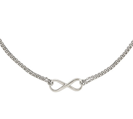 "Sterling Silver Infinity Symbol 18"" Necklace by Silver Style"