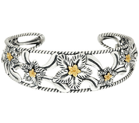 Carolyn Pollack Desert Rose Mixed Metal Cuff Bracelet